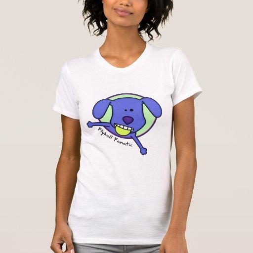 Blue Cartoon Flyball Fanatic Tee Shirts