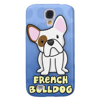 Blue Cartoon French Bulldog Samsung Galaxy S4 Cover