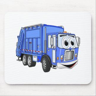 Blue Cartoon Garbage Truck Cartoon Mouse Pad