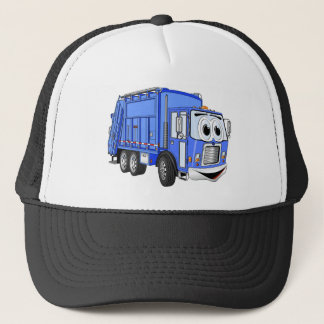 Blue Cartoon Garbage Truck Cartoon Trucker Hat