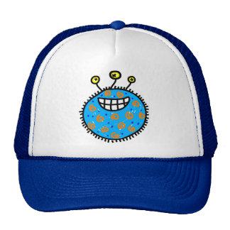 Blue Cartoon Germ Mesh Hats