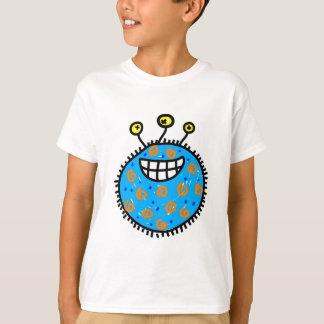Blue Cartoon Germ T-Shirt