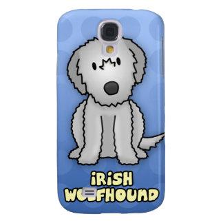 Blue Cartoon Irish Wolfhound Samsung Galaxy S4 Covers