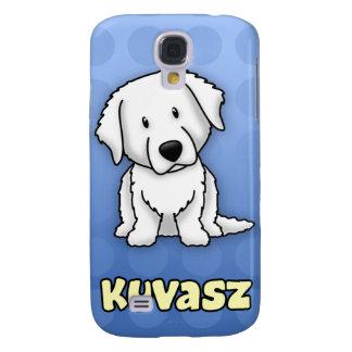 Blue Cartoon Kuvasz Galaxy S4 Covers
