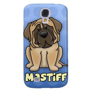 Blue Cartoon Mastiff Samsung Galaxy S4 Case