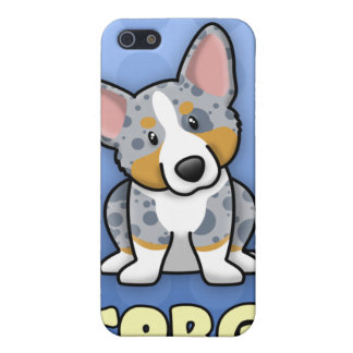 Blue Cartoon Merle Cardigan Welsh Corgi Cover For iPhone SE/5/5s