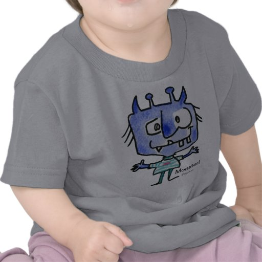 Blue Cartoon Monster #22 Baby T Shirt