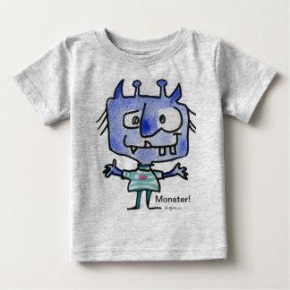 Blue Cartoon Monster #22 Baby T Shirt