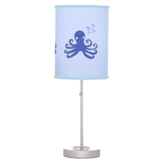 Blue Cartoon Octopus Desk Lamp