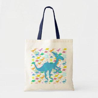 Blue Cartoon Parasaurolophus Dinos Color Stars Bag