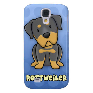 Blue Cartoon Rottweiler Galaxy S4 Covers