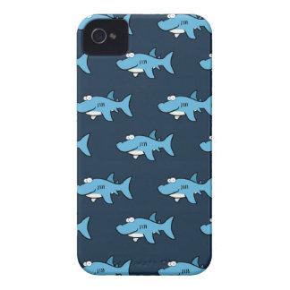 Blue Cartoon Shark Pattern Case-Mate iPhone 4 Cases