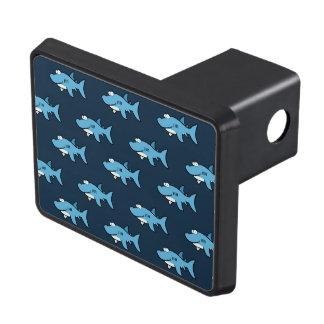 Blue Cartoon Shark Pattern Tow Hitch Cover