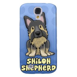 Blue Cartoon Shiloh Shepherd Samsung Galaxy S4 Cover