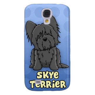 Blue Cartoon Skye Terrier Galaxy S4 Covers
