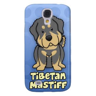 Blue Cartoon Tibetan Mastiff Galaxy S4 Covers