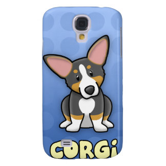 Blue Cartoon Tricolor Corgi iPhone 3 Case