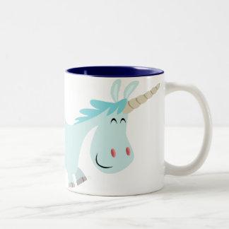 Blue Cartoon Unicorn  mug