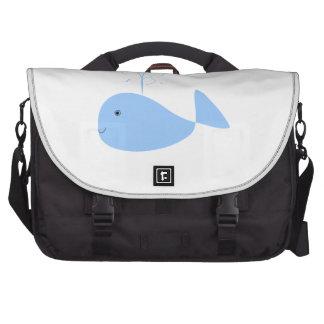 Blue Cartoon Whale Commuter Bags