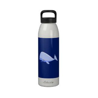Blue Cartoon Whale Drinking Bottles