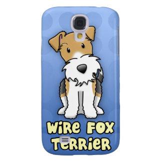 Blue Cartoon Wire Fox Terrier Samsung Galaxy S4 Covers