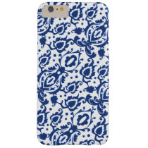 Blue Casbah Moroccan Damask Barely There iPhone 6 Plus Case