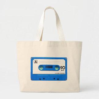 Blue Cassette Tape Jumbo Tote Bag