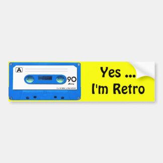 Blue Cassette Tape Bumper Sticker