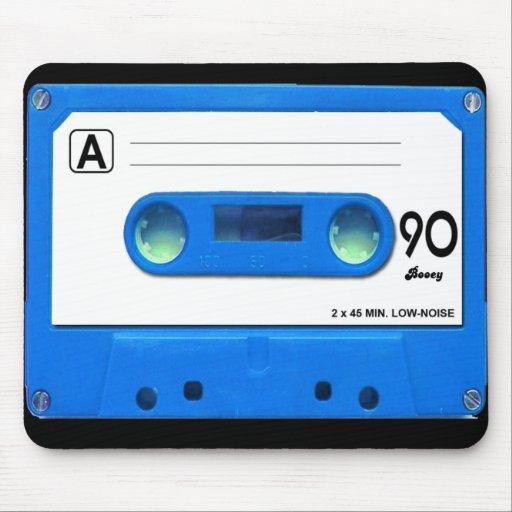 Blue Cassette Tape Mouse Pad