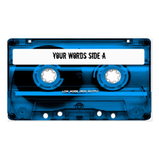 Blue Cassette Tape Personalized Business Card