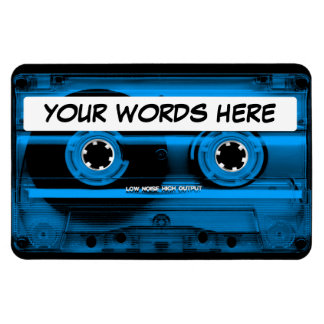 Blue Cassette Tape Personalized Magnet