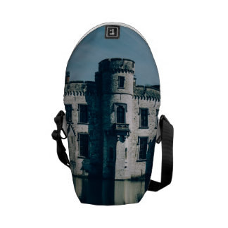 Blue Castle By The Water Messenger Bag