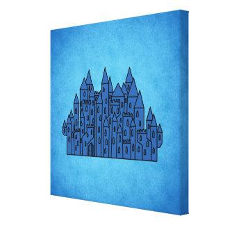 Blue Castle. Gallery Wrap Canvas