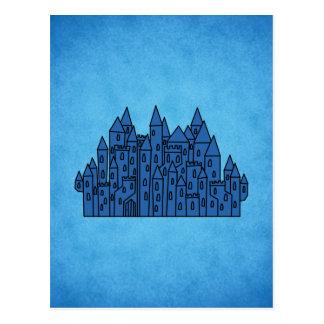 Blue Castle. Postcard