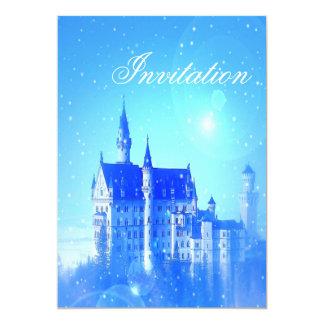 Blue Castle Princess Birthday Party Invitation