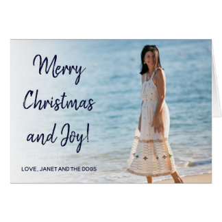 Blue Casual Christmas Greeting | Folded Card