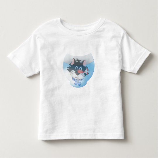 Blue Cat and Fishbowl Toddler T-shirt