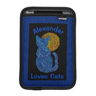 Blue Cat And The Moon Cat Lover Feline Kitten iPad Mini Sleeve