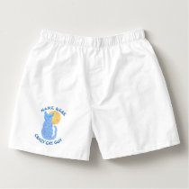 Blue Cat And The Moon Cat Lover Kitten Feline Boxers