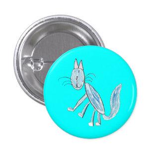 Blue Cat (blue background) Button