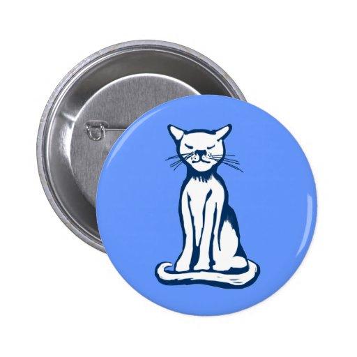 Blue cat button