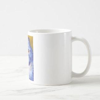 Blue Cat Classic White Coffee Mug