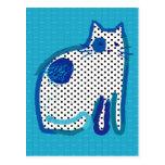 'blue cat' digital painting Postcard