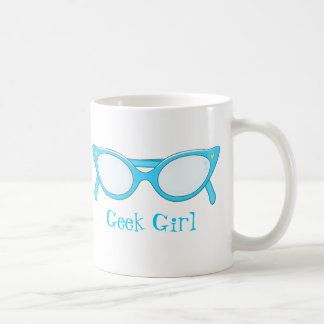 Blue Cat Eye Glasses Coffee Mug