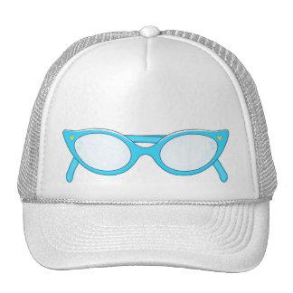 Blue Cat Eye Glasses Trucker Hat