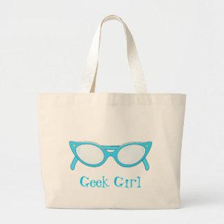 Blue Cat Eye Glasses Jumbo Tote Bag