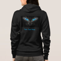 Blue Cat Eyes Women's Bella Fleece Zip Hoodie