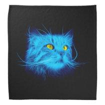 Blue Cat Face Bandana