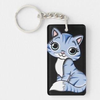 blue cat keychain