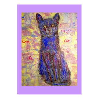 blue cat large business card